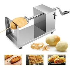 TWISTER SPIRAL POTATO CUTTER STAINLESS STEEL SLICER MACHINE