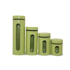 Canister Set Green - 4 Piece