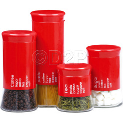 Canister Set Red - 4 Piece