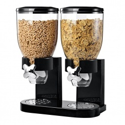 Cereal Dispenser Double-Black