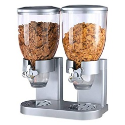Cereal Dispenser Double-Silver