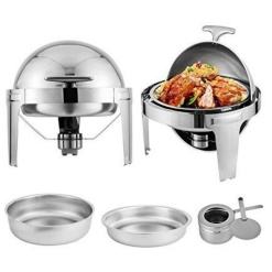 Chafing Dish Stainless Steel Round-Rolltop
