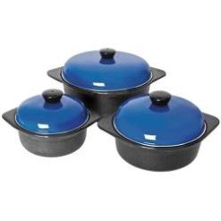 Cookware Set Cast Iron Blue-6 Piece