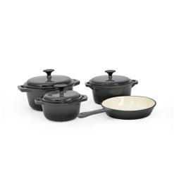 Cookware Set Cast Iron Grey -7 Piece