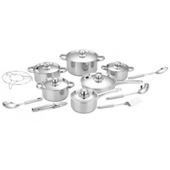 Cookware Set Heavy Bottom Stainless Steel-18 Piece