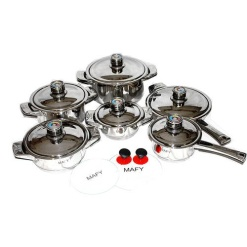 Cookware Set Mafy Seven-Layered Heavy Base-16 Piece