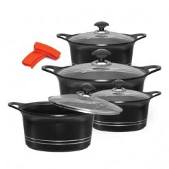 Cookware Set Sonex Die-Cast Heavy Duty Non-Stick Black -8 Piece