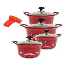 Cookware Set Sonex Die-Cast Heavy Duty Non-Stick Red-8 Piece