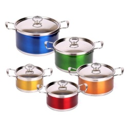 Cookware Set Stainless Steel Colour-10 Piece