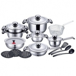 Cookware Sets Stainless Steel Heavy Duty-21 Piece