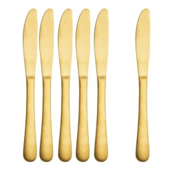Cutlery Knives Gold-Pack of 6