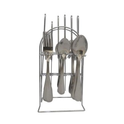 Cutlery Set Stainless Steel + Stand-24 Piece