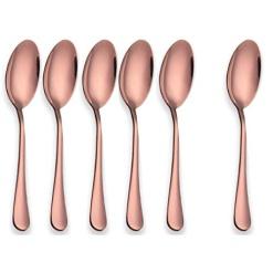 Cutlery Teaspoons Rose Gold-Pack of 6