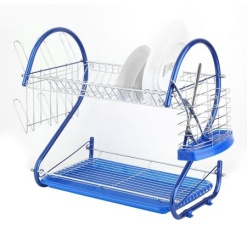 Dish Rack Blue-2 tier