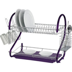 Dish Rack Purple-2 tier