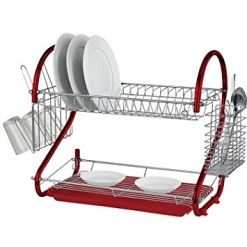 Dish Rack Red-2 tier