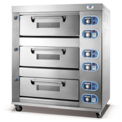 Electric Baking Oven-3 Deck 6 Tray