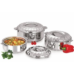Hot pot Casserole Insulated Food Warmer Large-3 Piece