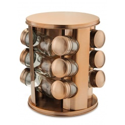 Spice Set Rotating Rose Gold-12 Piece