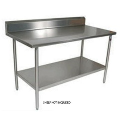 Stainless Steel Table with Splashback -1.7 metre