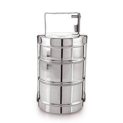 Tiffin Box Traditional Indian Lunch Box-3 Layer