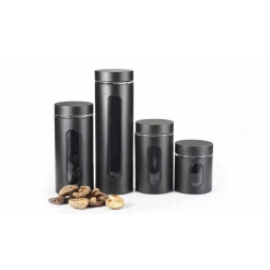 Canister Set Black - 4 Piece