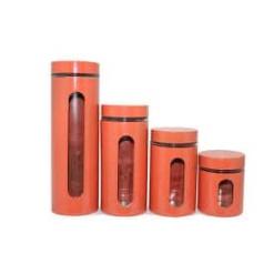 Canister Set Orange - 4 Piece