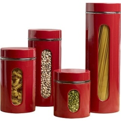 Canister Set Red-4 Piece