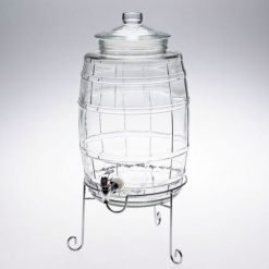Juice Glass Beverage Dispenser with Stand-16 Litre