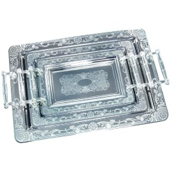 Tray Set Stainless Steel-3 Piece
