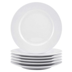 Dinner Plate Round-White 10.5 Inches