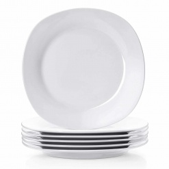 Dinner Plate Square-White 10.5 Inches