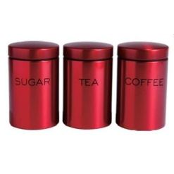 Canister Set Red - 3 Piece