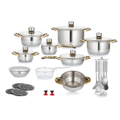 Cookware Set Mafy 30 Piece Stainless Steel Cookware Pot Set - 7 Layer Capsuled Bottom & Thermostat