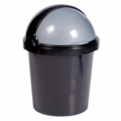 Otima-Black Dustbin and Flip Lid-12 Litre