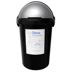 Otima-Black Dustbin and Flip Lid-25 Litre